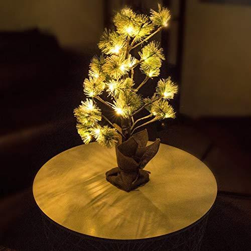 Elegear Luci Dell'albero di Neve Albero di Natale da 2 Piedi con 24 LED Bianchi Caldi Lampada da Tavolo Luci Natalizie Decorazione Natalizia Batteria Caricata