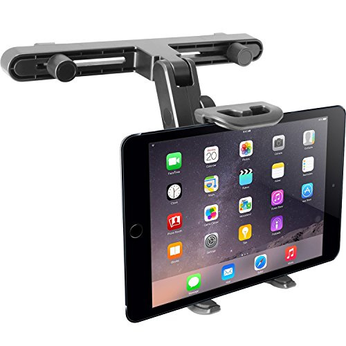 "Macally Adjustable Car Seat Headrest Mount and Holder for Apple iPad Air / Mini, Samsung Galaxy Tab, Kindle Fire, Nintendo Switch, and 7"" to 10"" Tablets (HRMOUNT)"