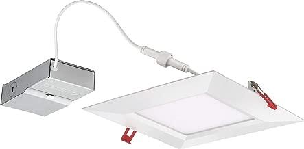 Lithonia Lighting WF8 SQ S 30K MVOLT 90CRI MW M6 LED Multi-Volt Ultra Thin Recessed Downlight, 3000K, White