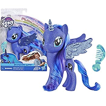 My Little Pony Toy Princess Luna – Sparkling 6  Figure for Kids Ages 3 Years Old & Up Brown