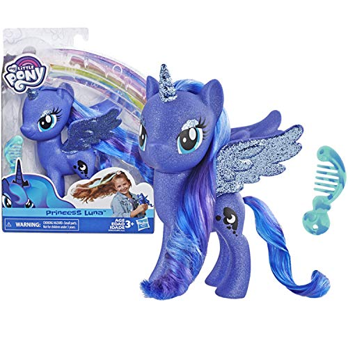 My Little Pony Toy Princess Luna – Sparkling 6' Figure for Kids Ages 3 Years Old & Up, Brown