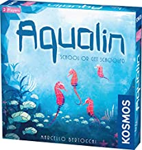Thames & Kosmos Aqualin   Beautiful 2 Player Strategy Board Game   Kosmos Games   Ages 8 and Up   Quality Plastic Tiles   Beautiful Artwork