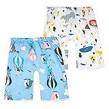 FLYISH DIRECT 2 Packs bébé Couche Jupe Couche Pantalon Pantalon d'entraînement pour l'apprentissage de la propreté des Tout-Petits pour garçons et Filles Bleu 0ans-4ans