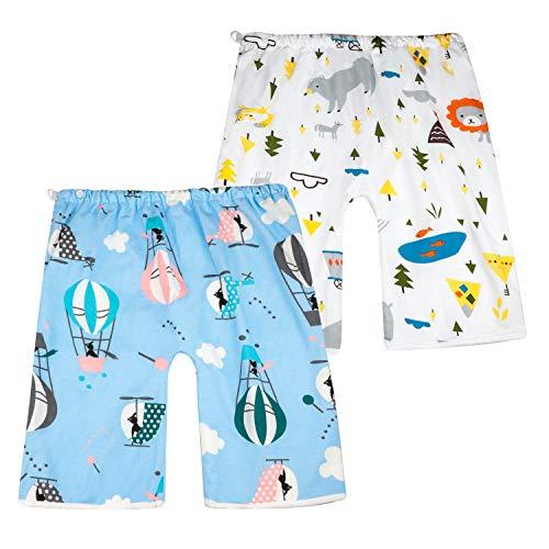 FLYISH DIRECT 2 Stück Baby Windelrock Windelhose Trainingshose für Kinder Töpfchentraining, Jungen und Mädchen, Blau, L(4-8T), 4-8 Jahre