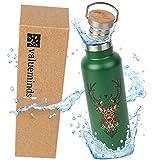 Geo Bottles Edelstahl Trinkflasche, Thermosflasche doppelwandig isoliert, Isolierflasche, BPA frei und nachhaltig, 10 Stunden heiße Getränke