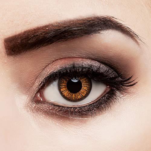 aricona Kontaktlinsen - Orange braune Jahreslinsen ohne Stärke – Natürliche braune Kontaktlinsen farbig ohne Stärke