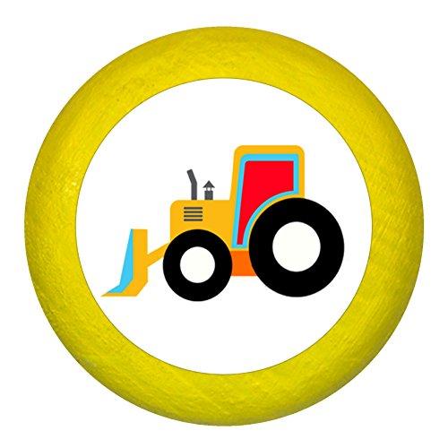 """Kommodengriff""""Bagger"""" gelb Holz Buche Kinder Kinderzimmer 1 Stück Fahrzeuge Transportfahrzeuge Traum Kind"""