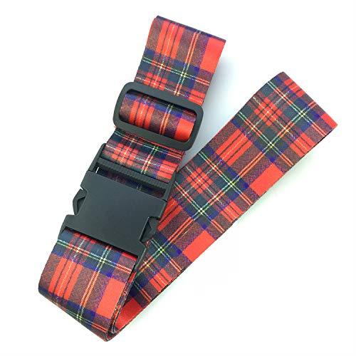 Tartan Luggage Strap for Suitcase 5 Foot Adjustable Royal Stewart Scotland