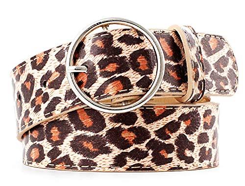 Riem - vrouwelijke riem - vrouw - luipaard - met gaten - gevlekt - vrouwelijk - meisje - mode - origineel geschenkidee - gesp
