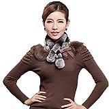 Mingxin real rabbit fur scarf concise slim style shawl warm collar shawl stole