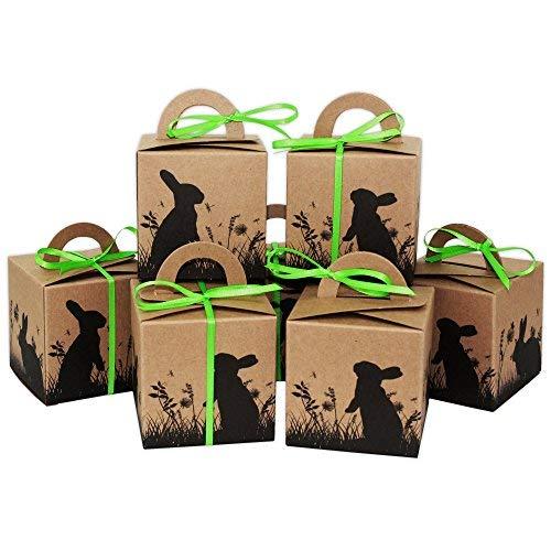Boîtes lapins de Pâques de loisirs créatifs - Boîtes-cadeaux en papier kraft pour Pâques DIY - Emballage cadeau à remplir soi-même - Pour enfants et adultes