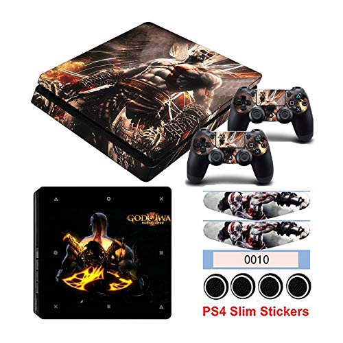 Homie Store PS4 Pro Skin - Ps4 Skins - Ps4 Slim Sticker - PS4 Slim Sticker Hot Game God of War Stickers for Playstation 4 Slim Console & Controller Vinyl Skin Decals Dust-Proof Protector