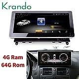 Autoradio Krando Android 8.1 10.25 Zoll DVD für Benz C Class W204 2008 2009 2010 mit Bluetooth (4+64G)