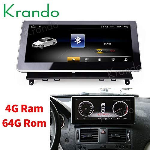 Krando Android 8.1 10.25 Zoll Autoradio für Benz C Class W204 2008 2009 2010 (4+64G)