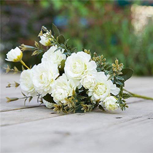 Artificial Flowers Artificial Peony Silk Flowers For Home Decoration Plastic Fake Flowers Bouquet Wedding Table Centerpiece Decor 1
