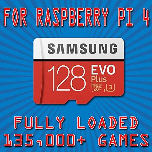 128GB Micro SD Card for Raspberry Pi 4 Retropie 135k Retro Classics