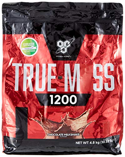 BSN True Mass 1200 - Chocolat Milkshake, 15 Portions - Mass gainer - Proteines en poudre pour musculation prise de masse, 4,80 kg