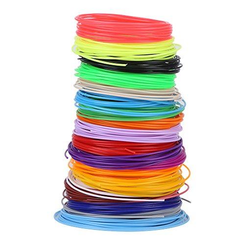Filamento per penna 3D colorato Ricariche per filamento per penna 3D PCL Materiale per stampa penna 3D da 1,75 mm Bassa temperatura 20 colori
