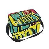 We are Heroes - Bolsa térmica para almuerzo, para adultos, con aislamiento térmico, para hombres, mujeres, barcos, playa, pesca, trabajo con correa para el hombro