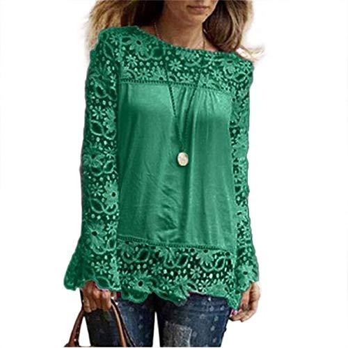 Auifor hemd met lange mouwen van de kunst en wijsvrouwen casual kant blouse los katoenen kanten T-shirt
