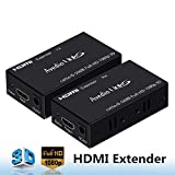avedio links 1080p HDMI Extender(Transmitter&Receiver) Over Single CAT5e/CAT6/CAT7 Full-HD 3D, HDMI 1.4a, HDCP, EDID Copy, Deep Color, Dobly TureHD, DTS-HD Audio, Up to 196ft(60m)