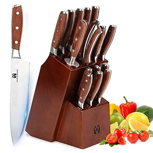 Vestaware - Juego de cuchillos de cocina, 16 piezas, con...