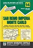 1 : 50 000 Wanderkarte 14 San Remo, Imperia, Monte Carlo