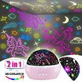 Toys for 3-8 Year Old Girls,Unicorn Gifts for Girls,Star Projector Night Light for Kids 2 in 1 Popular Cool Toys Christmas Xmas Birthday Gifts for Girls Age 1 2 3 4 5 6 7 8 9 Year Old Baby Girls …