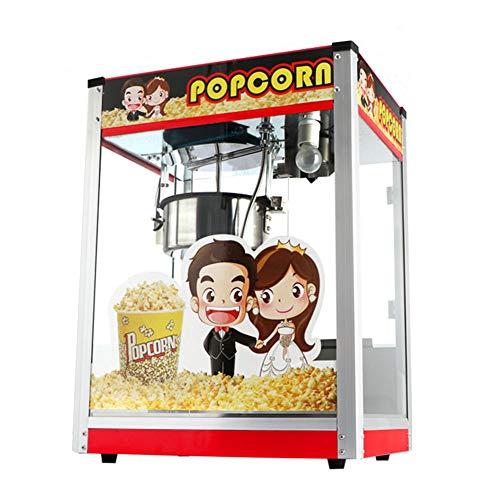 Commerciële Popcorn Machine, Retro Popcorn Machine, 1400W Blender Met Roestvrij Stalen Pot En Geïsoleerd Lighting Red