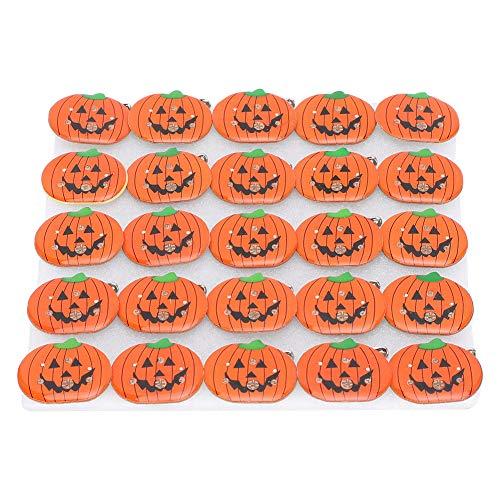 CUEA DIY Costume Decoration Decoration Brooc Halloween LED Brooch, Pumpkin Shape Halloween Pin, Party Brooch Gift for Halloween Parties