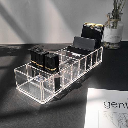 Kitchnexus Acryl Kosmetik Organizer – 8 Gitter Make-Up Aufbewahrungbox für Lidschatten, Lippenstift, Rouge und Puder (Transparent)