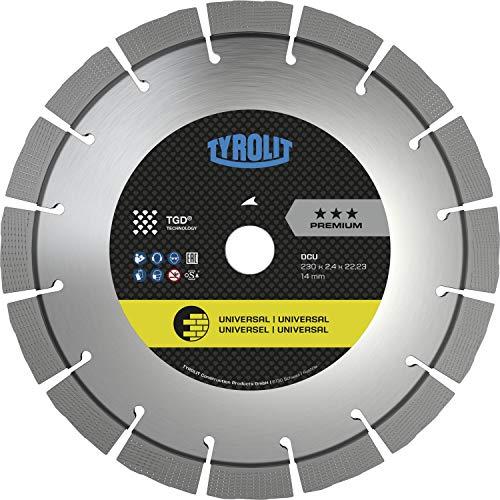 TYROLIT Diamant-Trennscheibe DCU*** TGD 230 x 2,4/14 mm für Baumaterialien