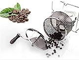 WXking Máquina de tostado de café Máquina de tostado de café Manual Mano para el hogar Máquina de asado de café Café de frijol crudo Máquina de asado pequeña Máquina de hornear de acero inoxidable peq