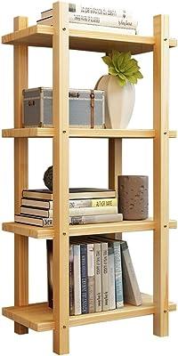 LYLY Bibliothèque haute en bois - Bibliothèque debout - Étagère de rangement - Organisateur ouvert - Étagères pour meubles à domicile ou au bureau - Couleur : 4 étages, taille : 80 cm