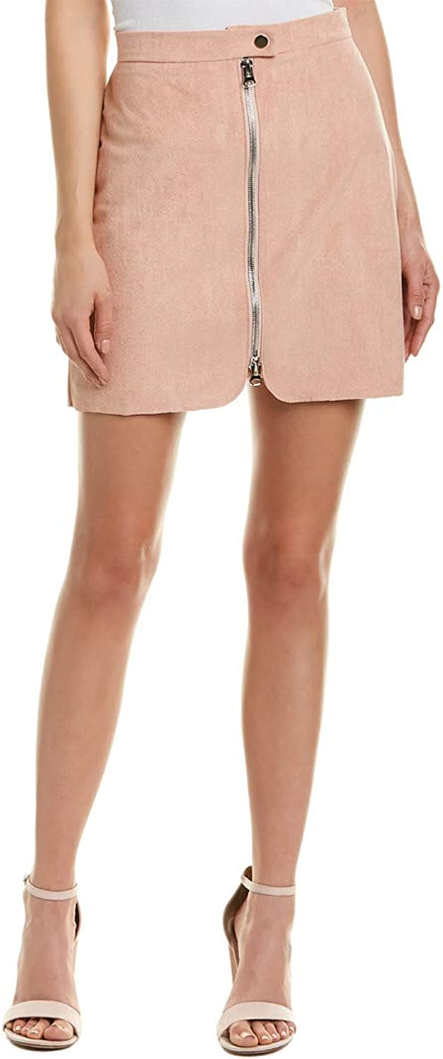 Bishop & Young Womens Exposed Zip Mini Skirt