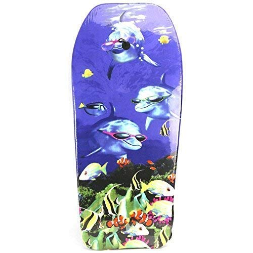 Lively Moments Bodyboard 104 cm/Body Board/Surfboard/Schwimmbrett 3 Delfine mit Sonnenbrillen