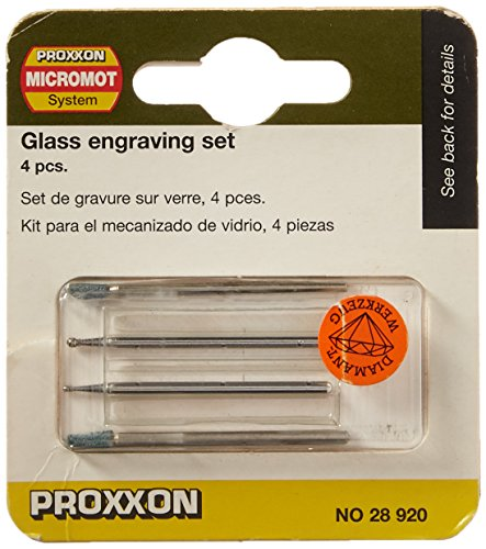 Proxxon 28920 Glasbearbeitungs-Set, 4 teiliger Satz