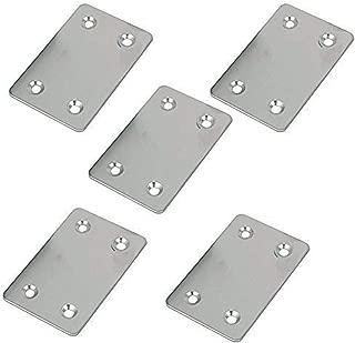 Cyful Stainless Steel Flat Repair Mending Fixing Plate Brackets Straight Metal Corner Braces(60x38mm)