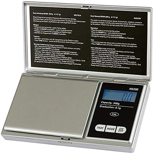 Pesola Digitale Taschenwaage MS500 500g