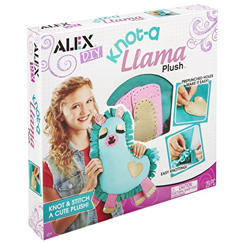 ALEX DIY 602100-1 Knot-a Llama Plush, Purple