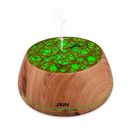 JVJH 400ML Large Capacity Aromatherapy Essential Oil Diffuser, Ultrasonic Humidifier 3 Timer...