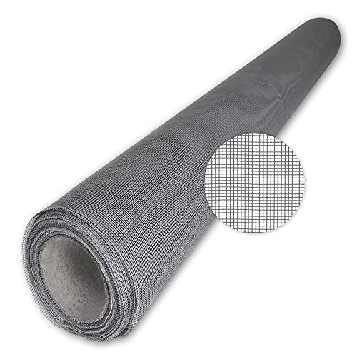 Teso - Mosquitera de fibra de vidrio a corte, color negro, gris o blanco, de alta calidad y sin deshilacharse al cortar, versátil, resistente a los rayos UV y resistente a la rotura