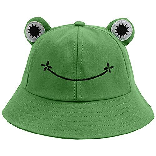 Face Smile Hat Summer Travel Bucket Beach Sun Hat Night Call Embroidery Visor Outdoor Cap