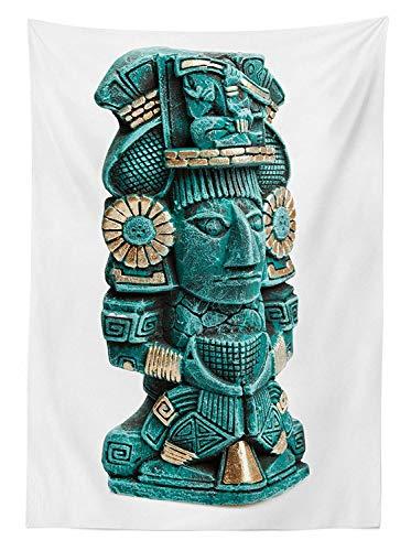 Yeuss Mantel al Aire Libre mesoamericano, Figura Maya Estatua de México Historia...