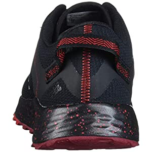New Balance Men's Fresh Foam Arishi V1 Trail Running Shoe, Black/Team Red, 10.5 X-Wide