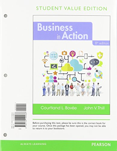 Business in Action, Student Value Edition Plus 2017 MyLab Intro to Business with Pearson eText -- Access Card Package (8