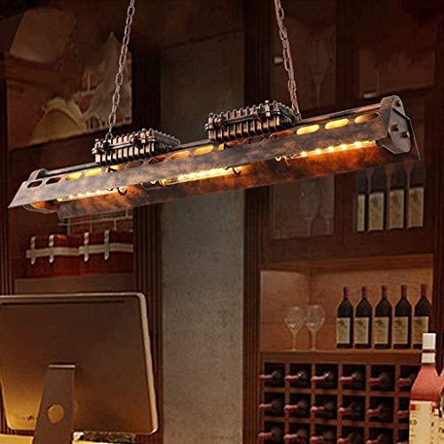 Bhesky Industrial Metal-Leuchter-Beleuchtung-Befestigung, Antiqued Rust Billardtisch Hängependelleuchten for Esszimmer Küche Island Bar Restaurant