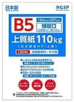 【特厚口】B5 上質紙 110kg (日本製紙NPI上質) (B5 100枚)