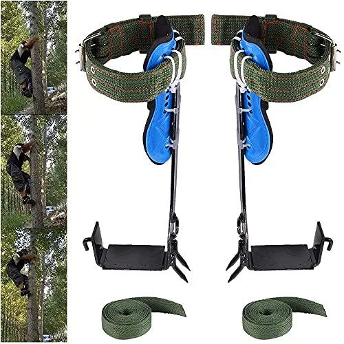 G · PEH 나무 등반 장비 안전 조정 가능한 끈 스트랩 밧줄 구조 벨트를 가진 304 스테인레스 스틸 트리 등반 도구 과일 및 야외 스포츠 따기