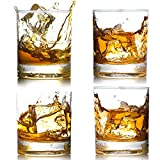 4 Pack Whiskey Glasses 12 OZ Scotch Glasses Old Fashioned Whiskey Glasses/Style Glassware for Bourbon/Rum glasses/Tumbler Whiskey Glasses, Clear
